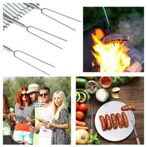 8X Marshmallow Roasting Sticks Extendable Fork BBQ Campfire Kids Fun Bar Becue