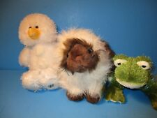 Webkinz Himalayan Cat Hm165 Snowman Hm370 & Frog Hs001 With Codes Stuffed Plush