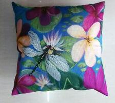 Dragonfly Frangipani Cushion Cover 45x45cm Jenny Sanders Art