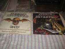 AVENGED SEVENFOLD-CITY OF EVIL-1 POSTER FLAT-2 SIDED-12X12 INCHES-NMINT-RARE!!!!