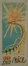 Affiche MORETTI - NICE 1860-1960 - Imp. MOURLOT