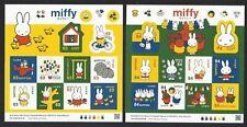 Japan 2019 Mini S/S Miffy Greeting Cartoon Rabbit  Sticker x 2 Stamp