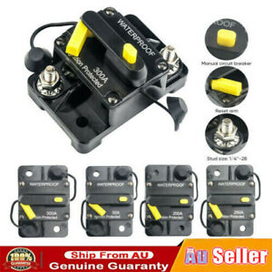 Car Circuit Breaker Fuse Reset 30-300 Amp 12V-48V DC Car Boat Auto Waterproof