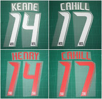 New York Red Bulls 08/12 HENRY#14 CAHILL#17 GIGGS#11 Printing Name Number Set