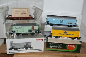 MARKLIN GAUGE 1 FREIGHT WAGONS, FOUR (4) TOTAL, SELL AS ONE LOT, EXCELLENT COND.