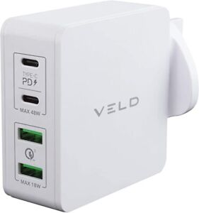 Veld 66W Super-Fast 4 Port Wall Charger