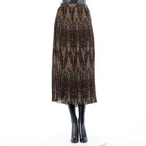 CELINE 3150$ Pleated Midi Skirt In Silk Chiffon