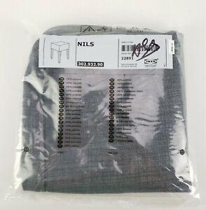 Ikea Nils Stool Cover Skiftebo Dark Gray Slipcover - New Sealed 302.932.90