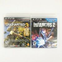 Uncharted 3: Drake's Deception - Infamous 2 - Playstation 3 PS3 Pack Lot Set