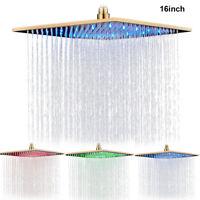 Gold 40cm*40cm LED Regendusche Duschkopf Duschköpfe Regenduschkopf Kopfbrause