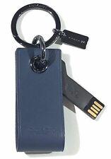 Coach Leather Key Chain FOB w/ 8GB USB Stick - Denim
