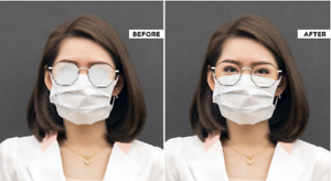 Reglaze Glasses ANTI-FOG, single vision scratch resistant lenses