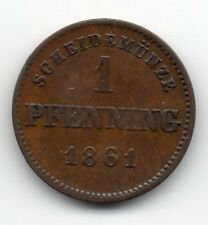 Germany - Bavaria / Bayern - 1 Pfennig 1861