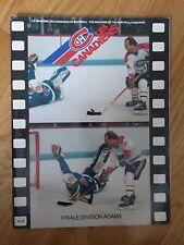 QUEBEC NORDIQUES vs MONTREAL CANADIENS 1984 ADAMS DIV FINALS Program Guy Lafleur