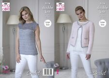 KINGCOLE 5114 Ladies DK Crochet Top PATTERN 32-50IN -not the finished garments