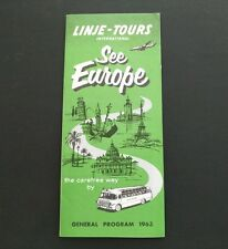 Vintage 1963 Linje - Tours International See Europe General Program Brochure