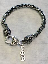 Gamma Phi Beta Lavaliere Rope Bracelet, GPB gift, big little, FREE SHIPPING
