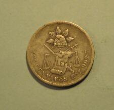 Mexico 25 Centavos 1888 Zs Z Silver Wold Coin Eagle Scales Zacatecas Mexicana