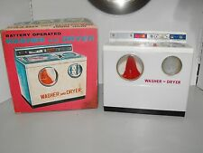 Rare ALPS Toys Battery Operated Child's Metal Washer And Dryer Set New In Box