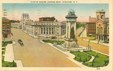 SYRACUSE,NY-CLINTON SQUARE LOOKING WEST-LINEN-(CF-1130)