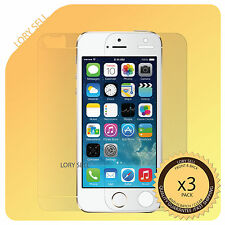 [3 Pack] iphone 5S Screen Protector HD Clear Anti-Scratch Full Body Front Back