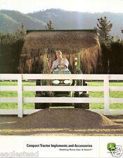 Farm Tractor Brochure - John Deere - Implements Accessories Compact 2006 (F1733)
