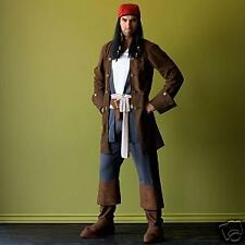Disney CAPTAIN JACK SPARROW Pirate Costume NEW Mens MED