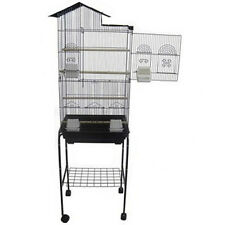 Large Cockatiels parakeets finchs Aviary Canaries Bird Cage Black stand- 207