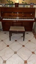 W Streicher Upright Piano In Mahogany With A Matching Stool