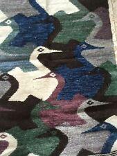 South American Tapestry M.C Escher Artist Geometric Design Birds Wool Hand Woven