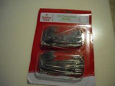 "New 150PK 2.5"" Large Christmas Ornament Hooks Tree Wedding Garden Hangers Silver"