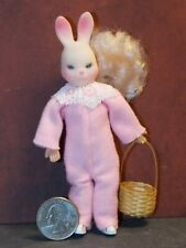 Dollhouse Miniature Doll Girl Easter Bunny 1:12 inch scale F19 Dollys Gallery