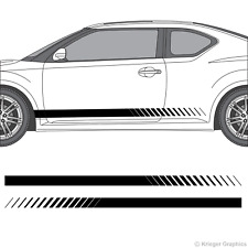Scion tC or FR-S Faded Rocker Panel Racing Stripes 3M Vinyl Decal Kit