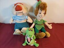 Disney Store Plush - Peter Pan, Tick Tock Crock and Smee
