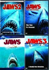 JAWS 1 2 3 4 THE REVENGE DVD Film Set One Two Thre Four Collection Sharks Horror