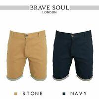 Brave Soul Chino Shorts Hansentic Stripe Detail RRP £30