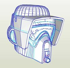 DIY Star Wars Scout Trooper Helmet Pepakura Kit Star Wars Cosplay