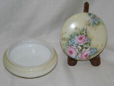 LARGE LIMOGES T & V Tressemane & Vogt LARGE POWDER BOX jar hand painted dresser