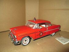 Franklin Mint 1955 chevy 55 belair fire chief 1:24 Scale loose very nice