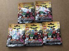 LEGO BATMAN Movie Series 1 Minifigures Blind Bag Lot of 5 Five New Sealed 71017