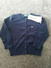 United Colors Of Benetton Baby Girls Cardigan Age 1 Year navy