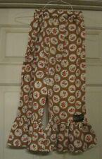 Matilda Jane floral pants - 8, tan, pink Flowers, adjustable waist, too cute!