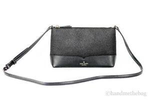 Kate Spade Lola Glitter Saffiano Leather Small Crossbody Handbag Purse