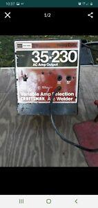 Variable Amp Selection Craftsman Arc Welder 35-230 Model No. 113.201470