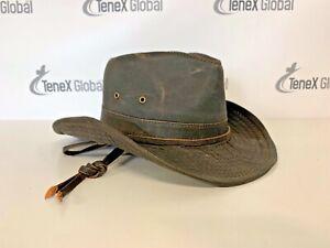 Dorfman Pacific Co. UPF 50+ Weathered Cotton Hat Outback Wide Brim E-5