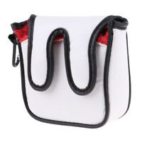 Golf Accessory Square Mallet Putter Head Cover Headcover Protector Bag Red