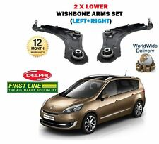 FOR RENAULT GRAND SCENIC 2009 > LEFT+ RIGHT 2x LOWER WISHBONE SUSPENSION ARMS