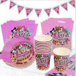 LOL Surprise Birthday Party Girls Tableware Dolls Decorations L.O.L Balloons