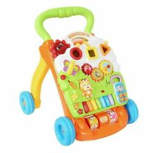 4in1 Baby Walker First Steps Activity Bouncer Musical Toys Car Along Toddler UK