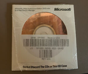 Dell Microsoft Office Professional 2003 w/ Business Contact Manager BCM OP1860
